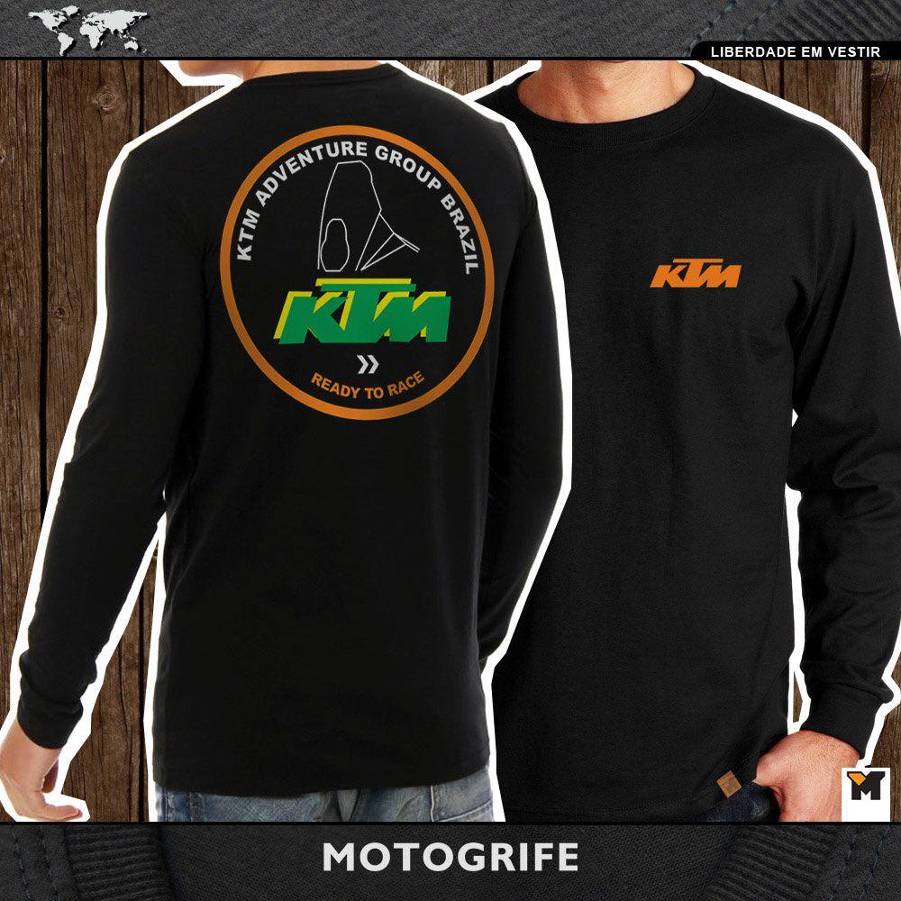 Grupo KTM camiseta manga longa