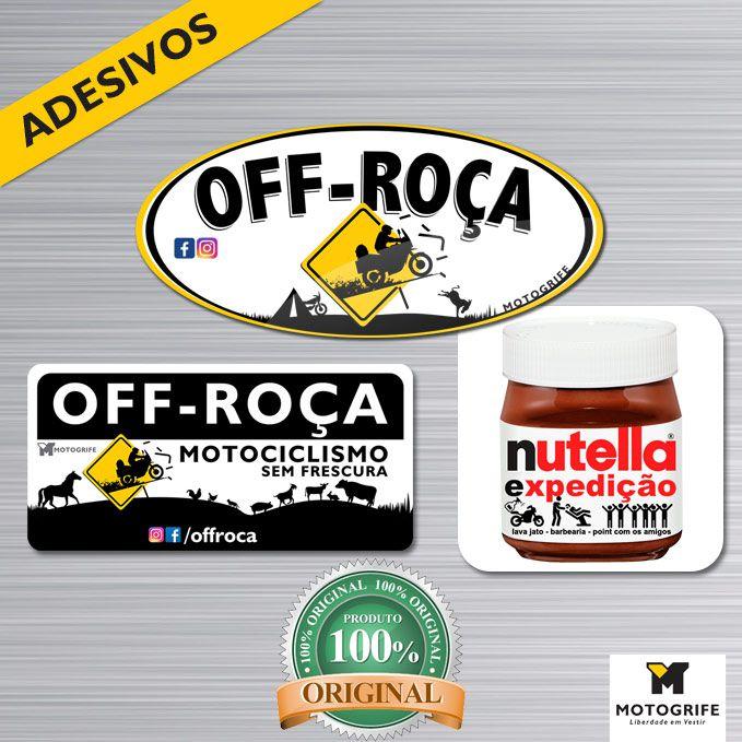 Kit adesivos Off-roça + nutella