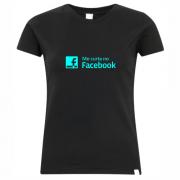 Camiseta feminina rede social: facebook – preta