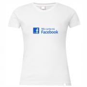Camiseta feminina rede social: facebook – branca