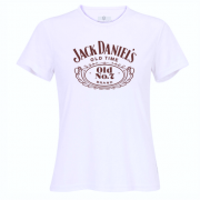 Camiseta Jack Daniel's Old Time estampa marron – feminina