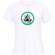 Camiseta: Ciclista pedal verde - feminina