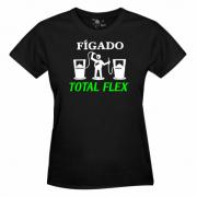 "Camiseta: ""Fígado total flex"" - feminina"