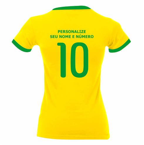 Gooool Camiseta infantil masculina da seleção brasileira  Olha o gol f3ef78f0de35a