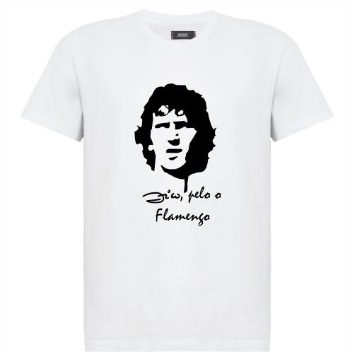 Camiseta masculina futebol  Zico 43b085359cd2e
