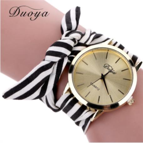 dd91329363d Relógio pulseira feminino outubro rosa tecido - O jeito certo de vestir.