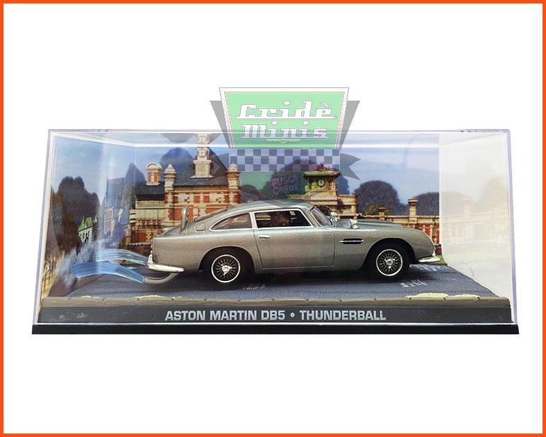 Aston Martin DB5 James Bond 007 - Caixa de acrílico - escala 1/43