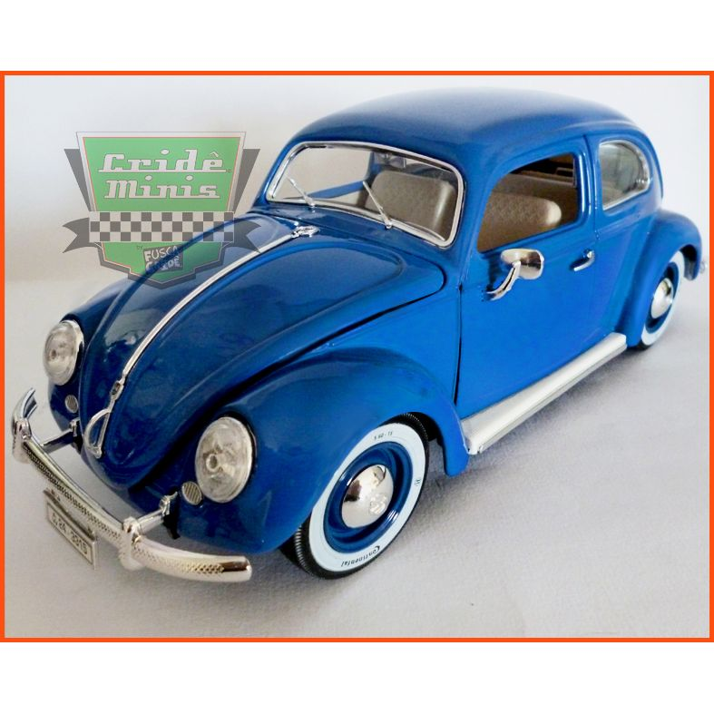 Burago Fusca VW Oval Window 1955 ITALIANO - escala 1/18