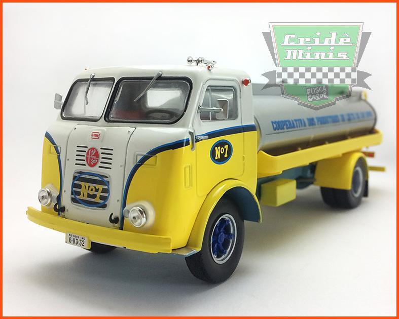 Caminhão FNM LEITE 1957 - escala 1/43