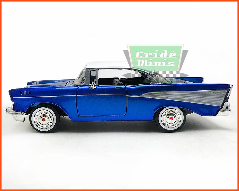 Chevrolet Belair 1957 Blue - Escala 1/24