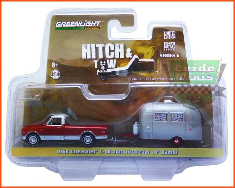 Chevrolet C-10 1968 and Airstream 16' Bambi - escala 1/64
