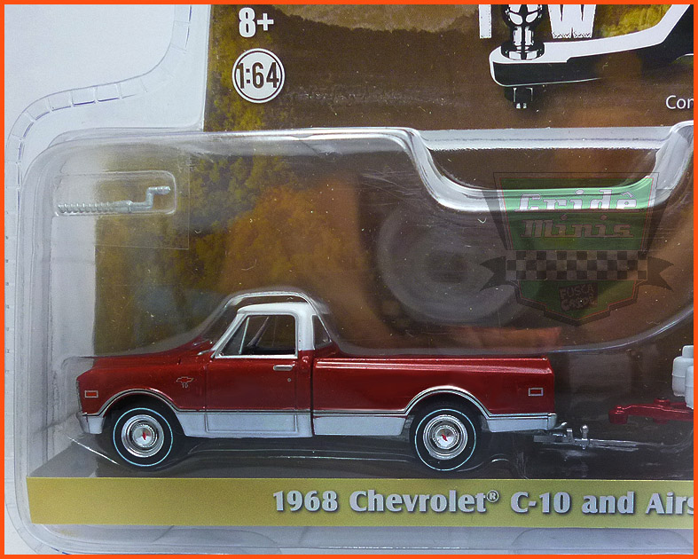 Chevrolet C-10 1968 and Airstream 16' Bambi - escala 1/64