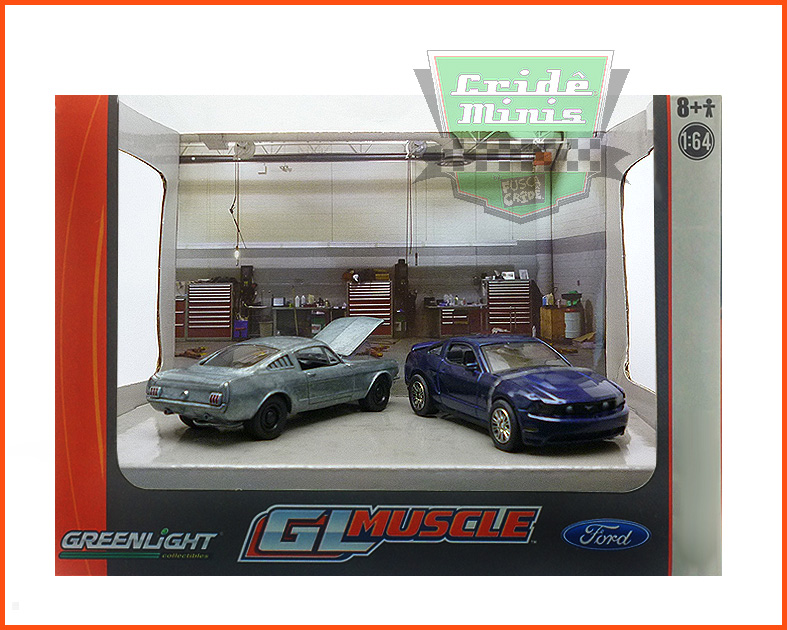 Diorama GL Muscle - Mustang's - escala 1/64