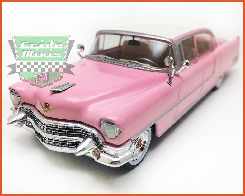 ELVIS Cadillac Fleetwood 1955 ROSA - Caixa de acrílico - escala 1/43