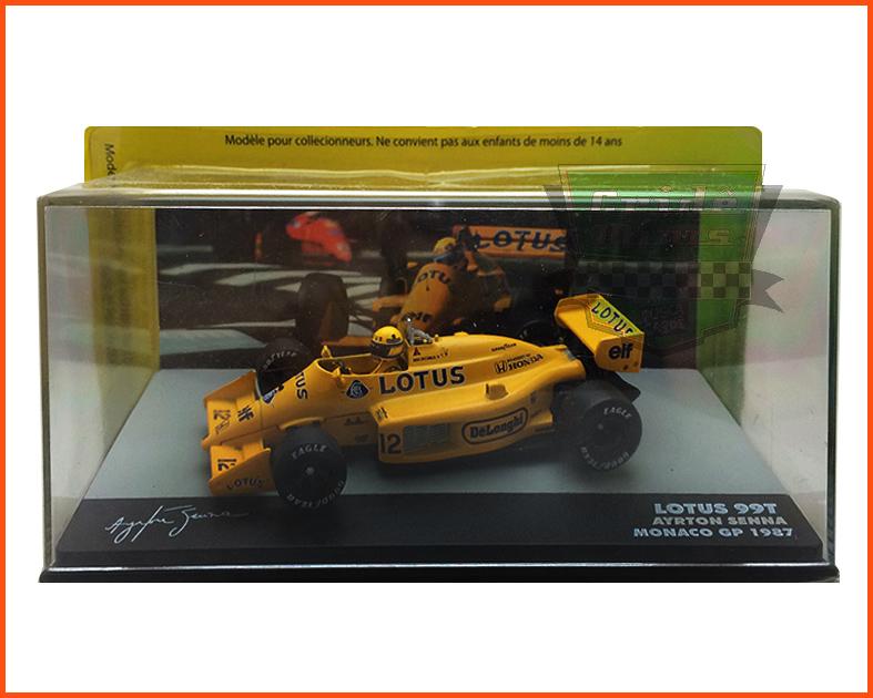 F1 Ayrton Senna - Lotus 99T 1987 - escala 1/43