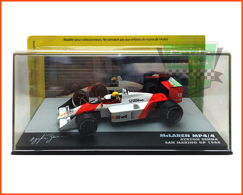 F1 Ayrton Senna - McLaren MP4/4 1988 - escala 1/43