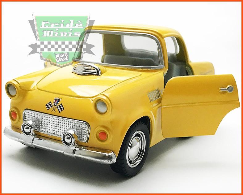 Ford Thunderbird 1955 FUN Amarelo (10 cm comprimento)