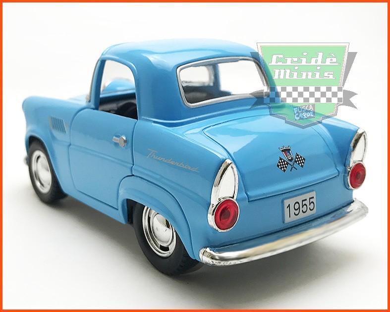 Ford Thunderbird 1955 FUN Azul (10 cm comprimento)