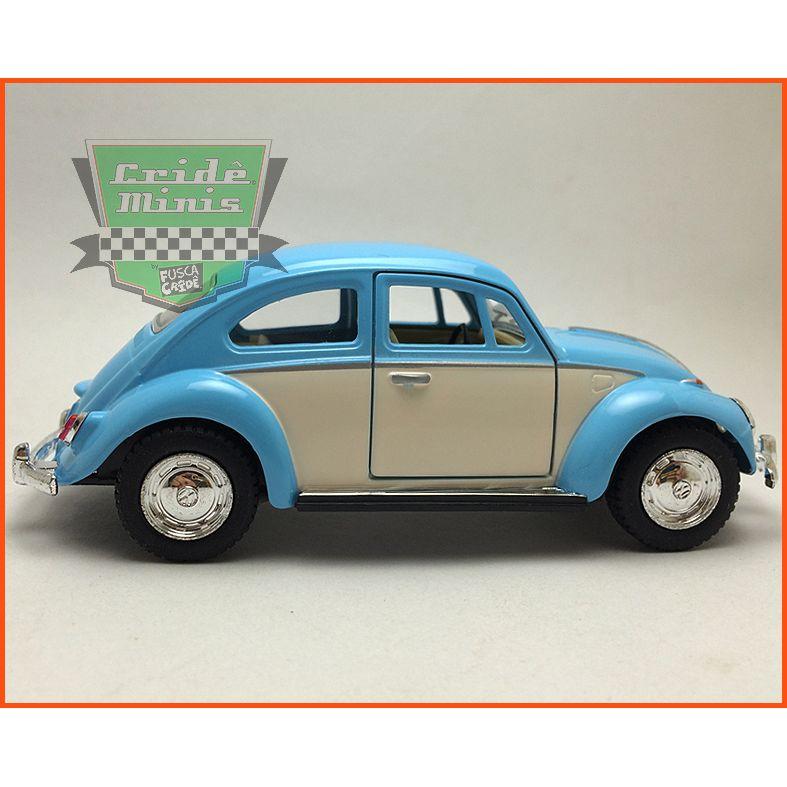 Fusca Sedan 1967 - Azul/Creme - escala 1/32