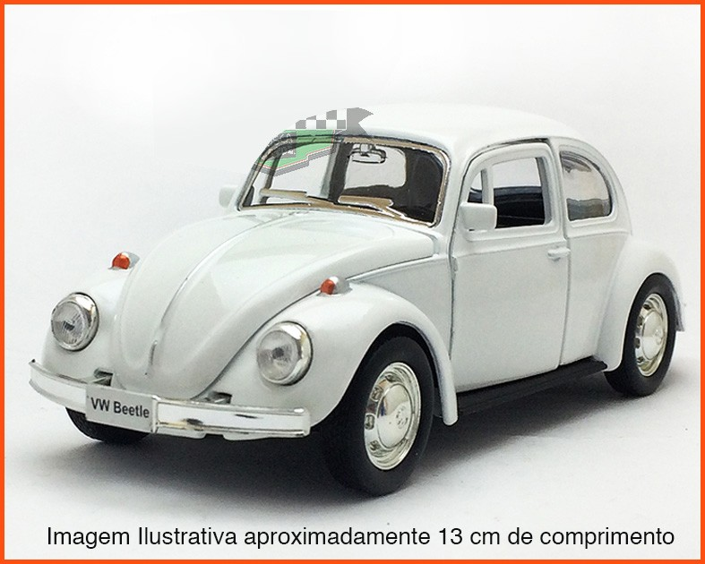 Fusca Sedan  - Branco - escala 1/32