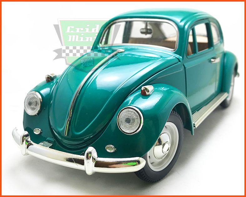 Fusca Sedan Verde - Escala 1/18