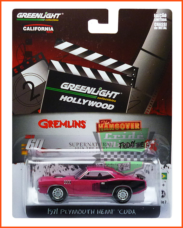 Greenlight Plymouth Cuda 1971- 60 segundos - escala 1/64