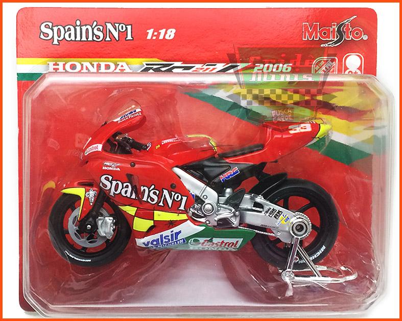 Honda Moto GP 2006 Spain's - escala 1/18