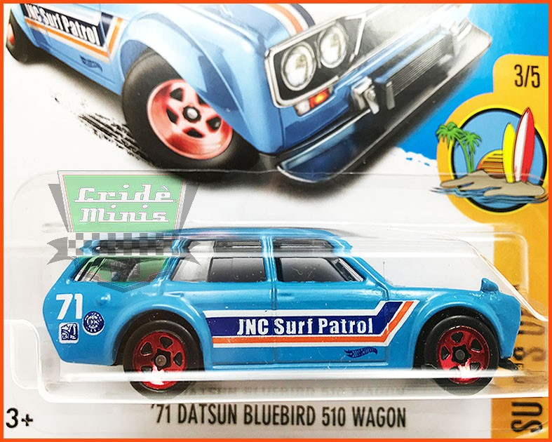 Hot Weels Datsun Bluebird Wagon 71 - escala 1/64