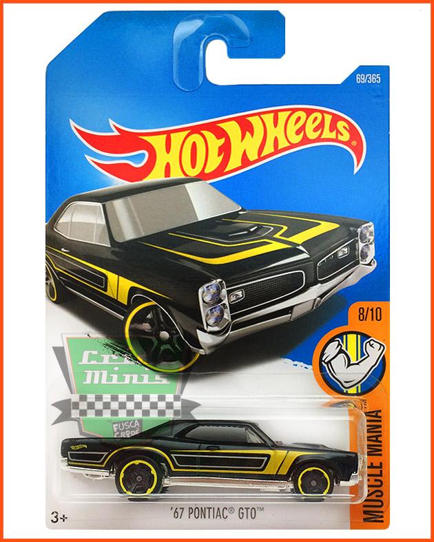 Hot Weels Pontiac GTO 67 - escala 1/64