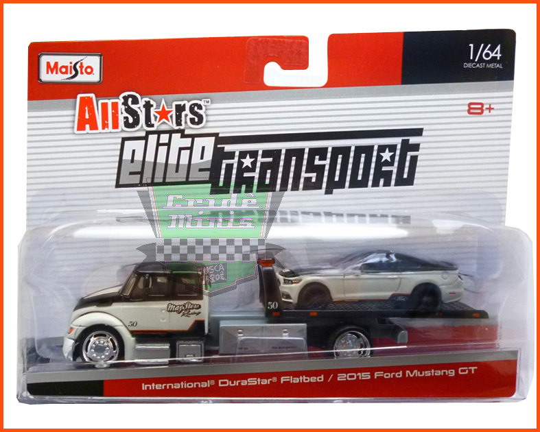 International DuraStar Flatbed & Ford Mustang GT 2015 - escala 1/64