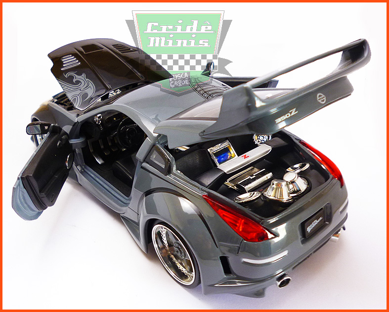 Jada D.K.'s Nissan 350Z 2003 - Velozes e Furiosos - escala 1/24