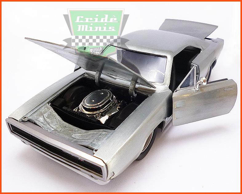 Jada Dom's Dodge Charger R/T 1968 - Velozes e Furiosos - escala 1/24