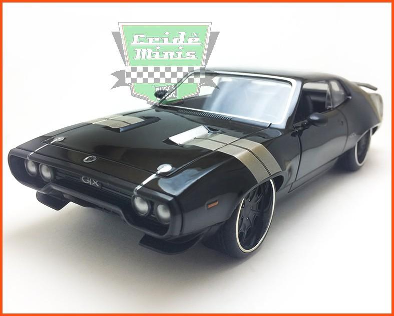 Jada Dom's Plymouth GTX 1972 - Velozes & Furiosos 8- escala 1/24