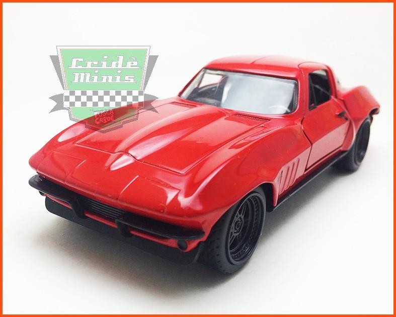 Jada Letty's Chevy Corvette 1966 - Velozes & Furiosos 8 - escala 1/32