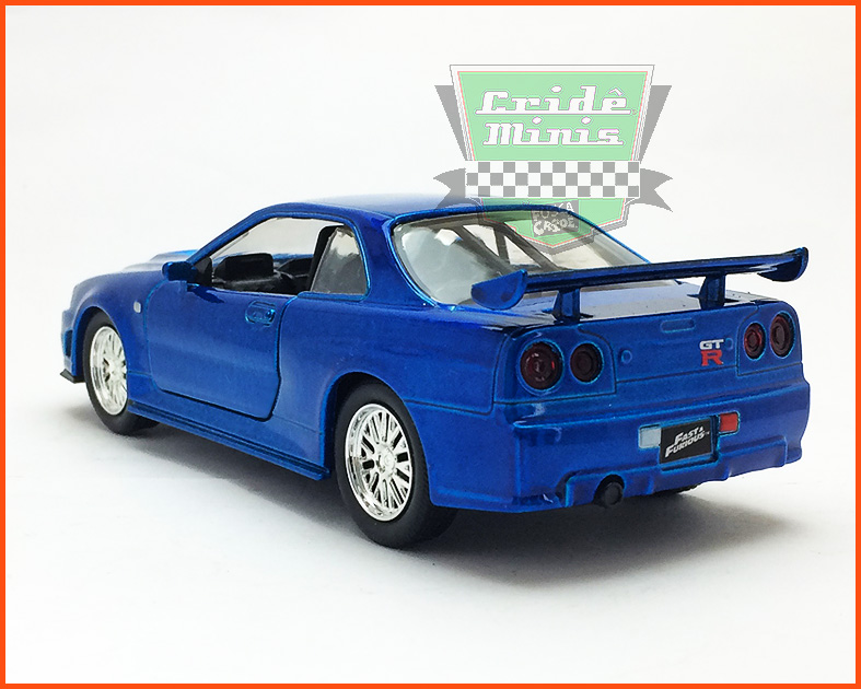 Jada Nissan Skyline GT-R 2002 R34 - Velozes e Furiosos - escala 1/32