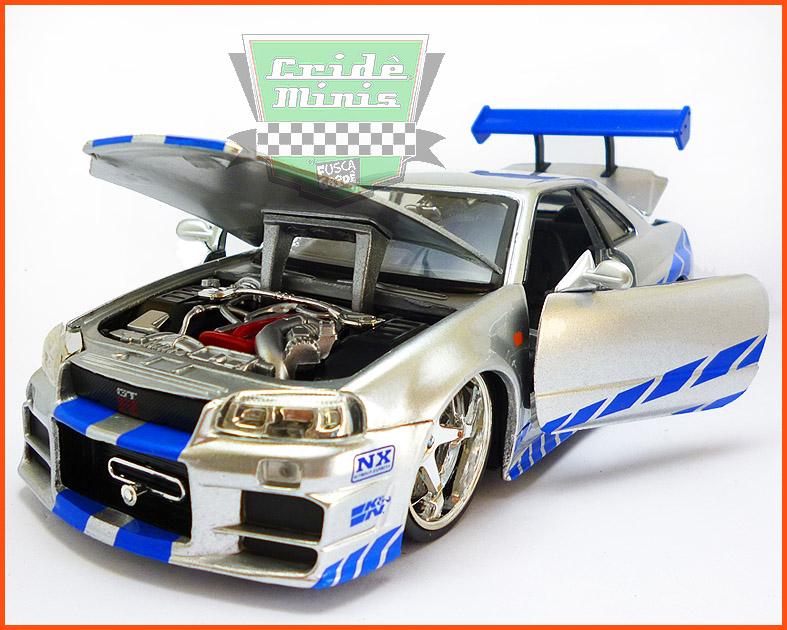 Jada Nissan Skyline GT-R 2002 - Velozes e Furiosos - escala 1/24