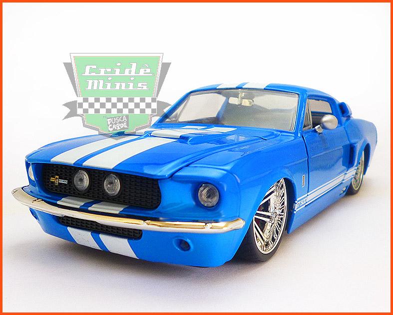 Jada Shelby GT 500 1967 azul - escala 1/24