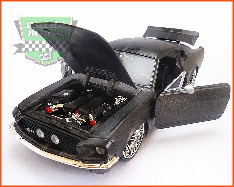Jada Shelby GT 500 1967 grafite - escala 1/24