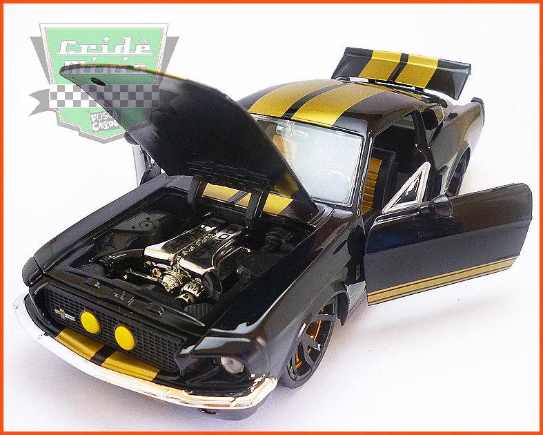 Jada Shelby GT 500 1967 preto - escala 1/24