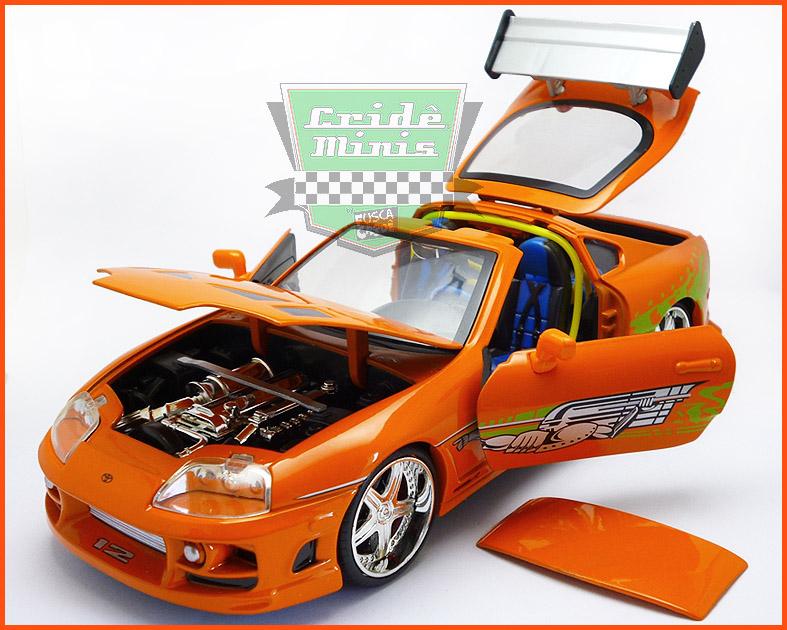 Jada Toyota Supra 1995 - Velozes & Furiosos - escala 1/24