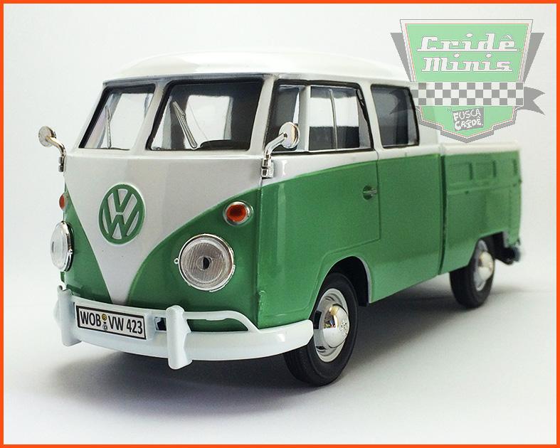 Kombi Cabine Dupla Pick-up verde 1969 - escala 1/24