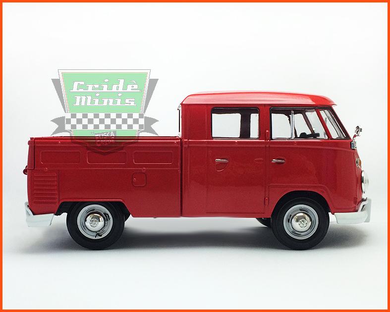 Kombi Cabine Dupla Pick-up vermelha 1969 - escala 1/24