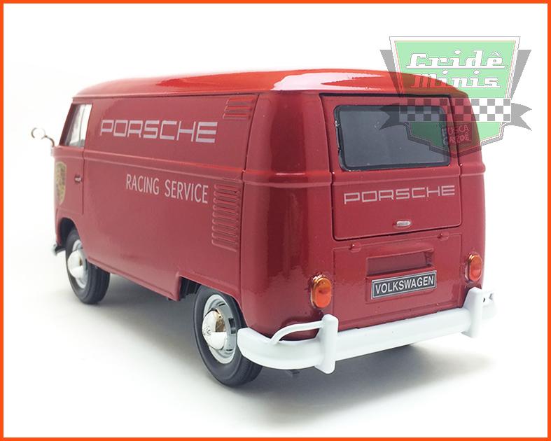 Kombi Furgão PORSCHE RACING SERVICE 1969 - 8 dias de produção - escala 1/24