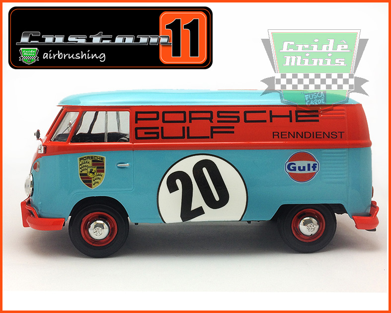 Kombi Furgão PORSCHE-GULF 1969 - customizada 1/24