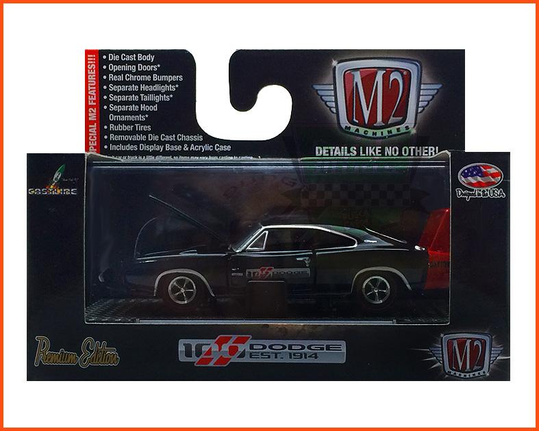 M2 Dodge Charger Daytona HEMI 1969 100 Anos - escala 1/64