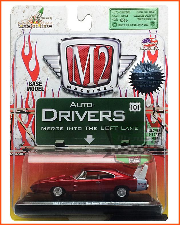 M2 Dodge Charger Daytona HEMI 1969 - Ed. Lim. 5.000 unidades Mod. RARO - escala 1/64