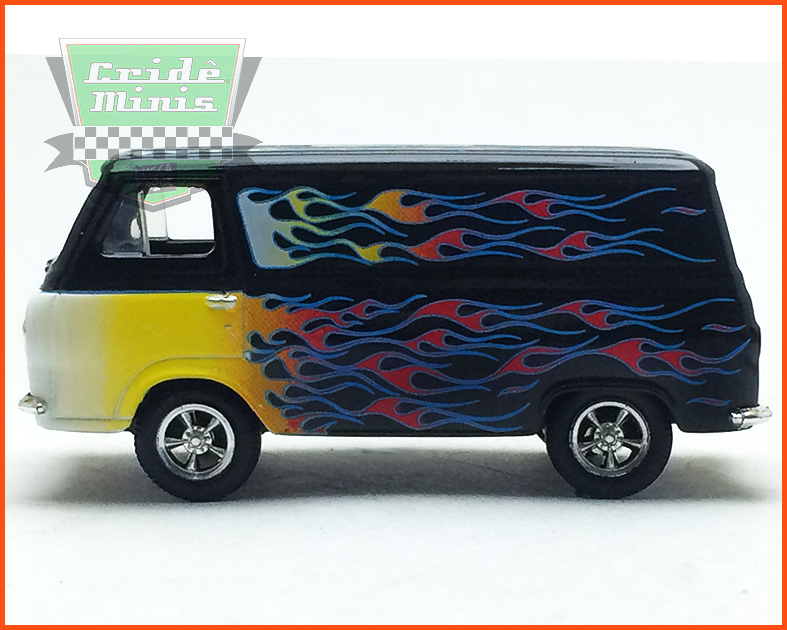 M2 Ford Econoline Van Custom 1965 Edição Premium - escala 1/64