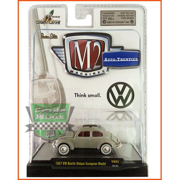 M2 Fusca - VW beetle Deluxe European Model 1957 - escala 1/64