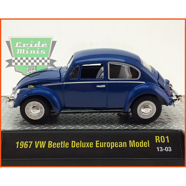 M2 Fusca - VW beetle Deluxe European Model 1967 - escala 1/64