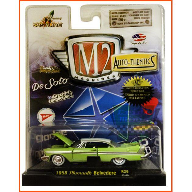 M2 Plymouth Belvedere 1958 -Ed. Lim. 5.000 unidades escala 1/64